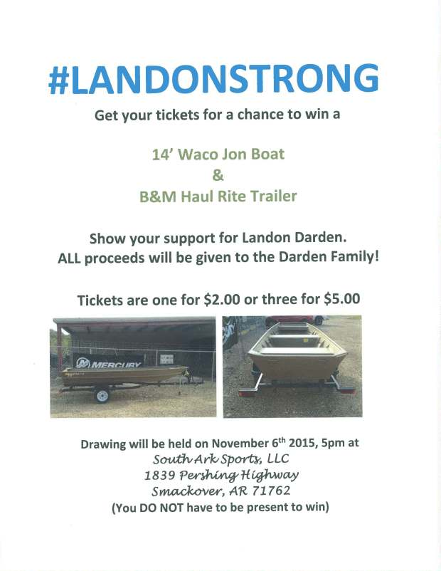 landonstrong boat raffle flyer