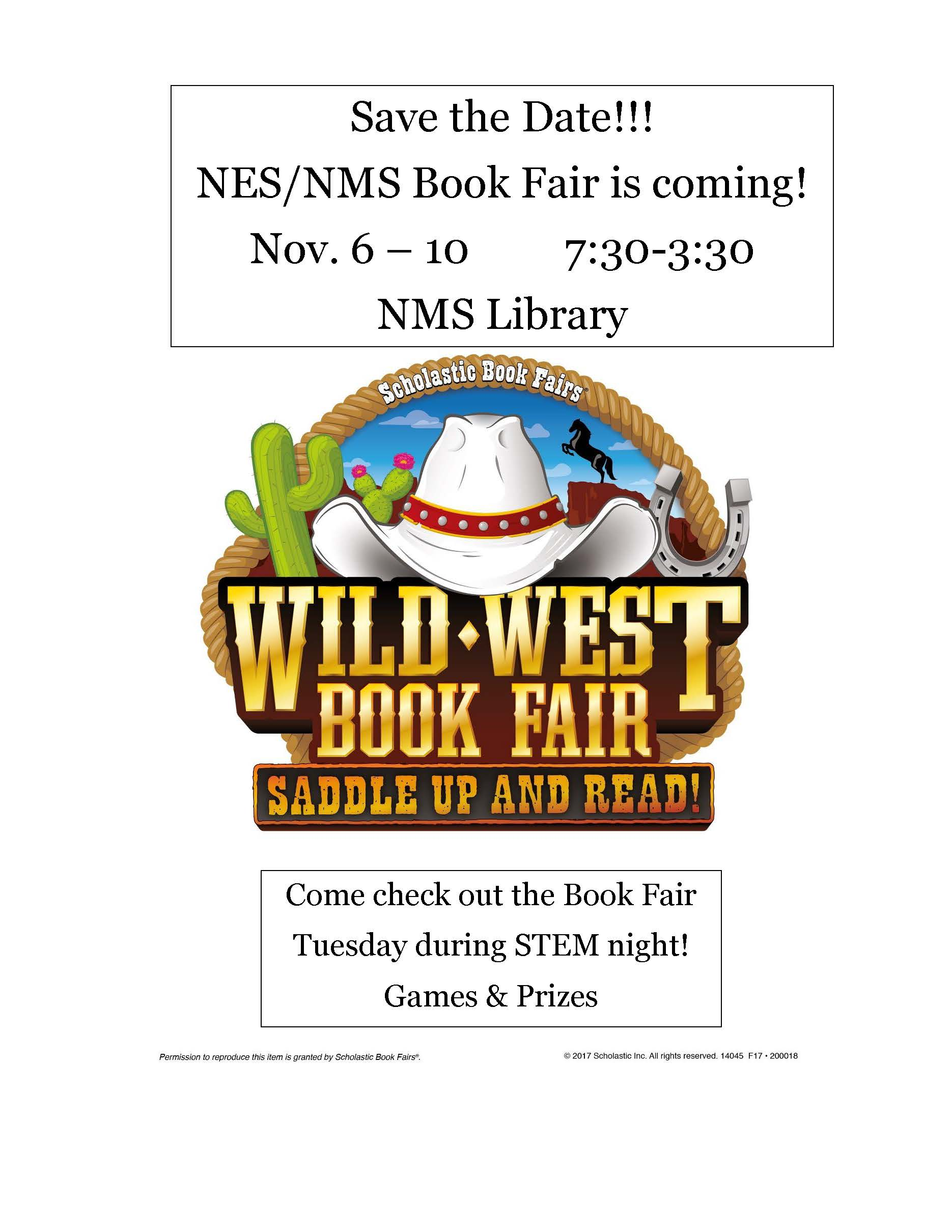 NES/NMS Wild West Book Fair