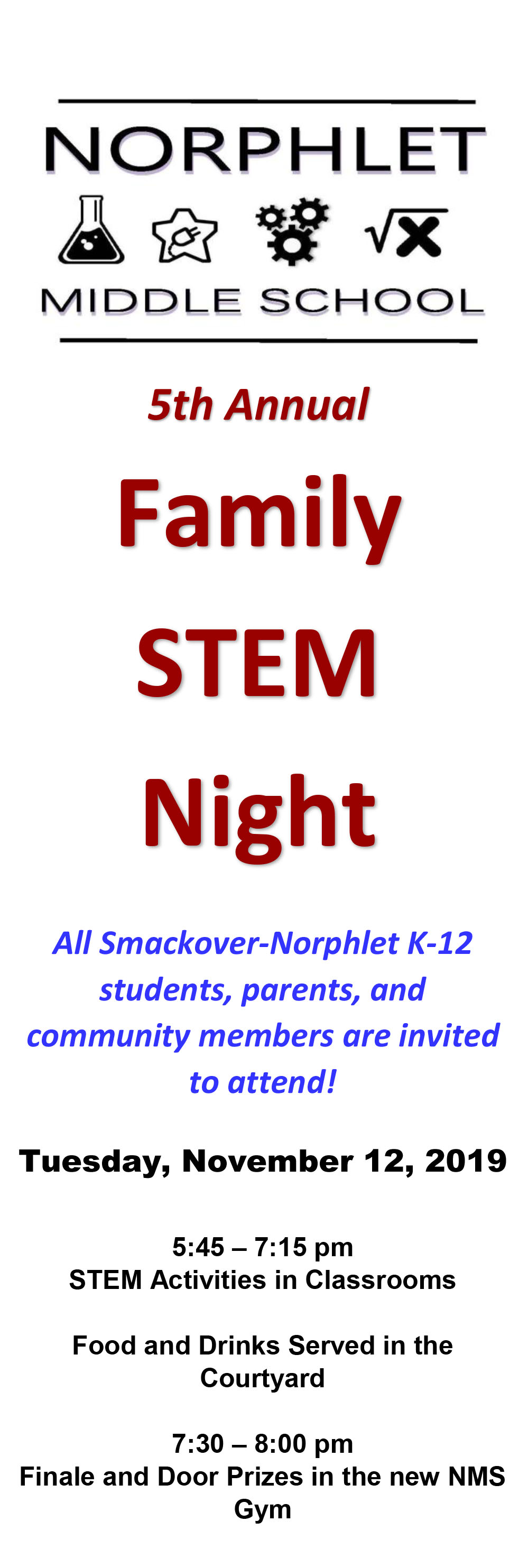5TH ANNUAL FAMILY STEM NIGHT IS COMING SOON!!!
