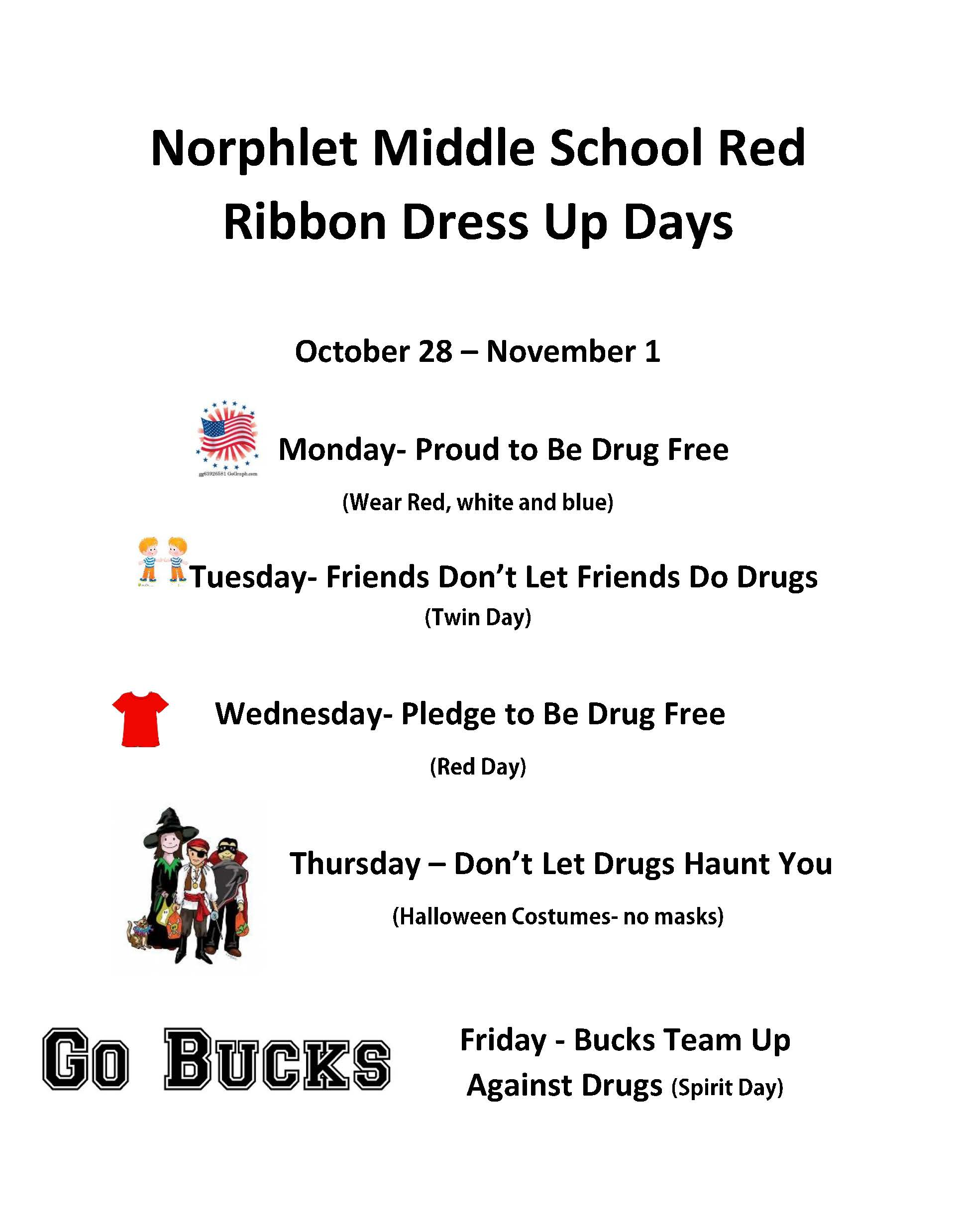 NMS TO CELEBRATE RED RIBBON WEEK OCTOBER 28 – NOVEMBER 1