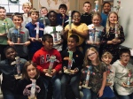 Mrs. Stringers 5th Grade Social Studies Class Showing off their Totems Picture 3