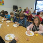 SES Students who met their AR Goals Enjoying Cookies Pic 1