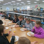 SES Students who met their AR Goals Enjoying Cookies Pic 2