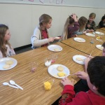 SES Students who met their AR Goals Enjoying Cookies Picture 3