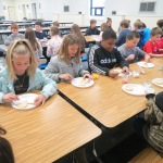 SES Students who met their AR Goals Enjoying Cookies Picture 6