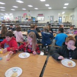 SES Students who met their AR Goals Enjoying Cookies Picture 7