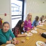 SES Students who met their AR Goals Enjoying Cookies Picture 8