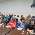 SES Students who met their AR Goals Enjoying Cookies Picture 9