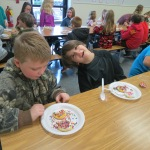 SES Students who met their AR Goals Enjoying Cookies Picture 11