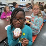 SES Students who met their AR Goals Enjoying Cookies Picture 13