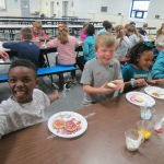 SES Students who met their AR Goals Enjoying Cookies Picture 14