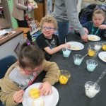SES Students who met their AR Goals Enjoying Cookies Picture 26