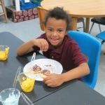 SES Students who met their AR Goals Enjoying Cookies Picture 30