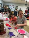 Students Decorating Sugar Cookies at the Smackover 4-H Club meeting