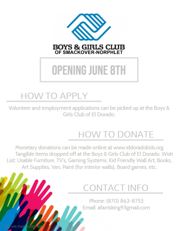 Boys and Girls Club Employment Info Flyer