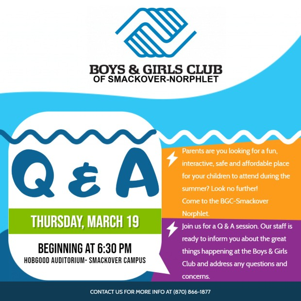 Boys and Girls Club Q & A Poster