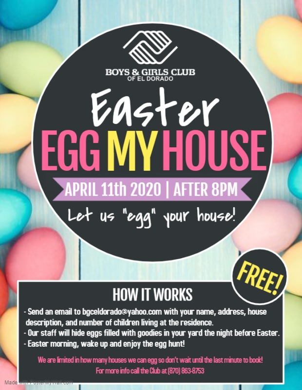Boys and Girls Club Easter Poster