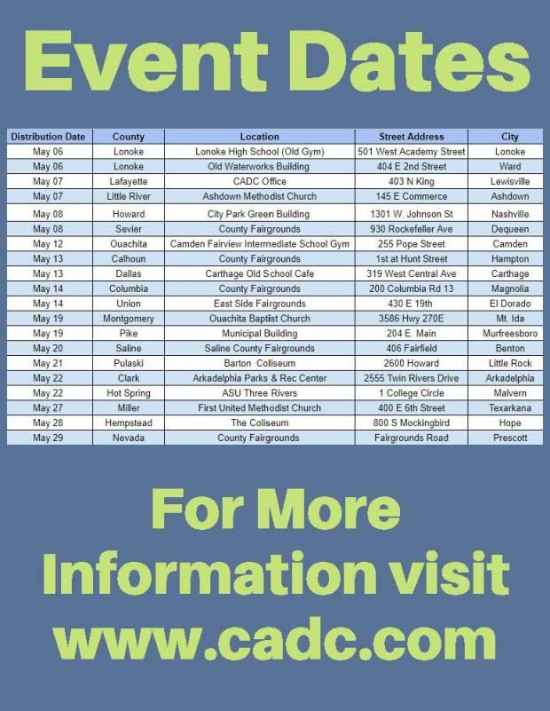 Emergency Food Distribution Dates Flyer