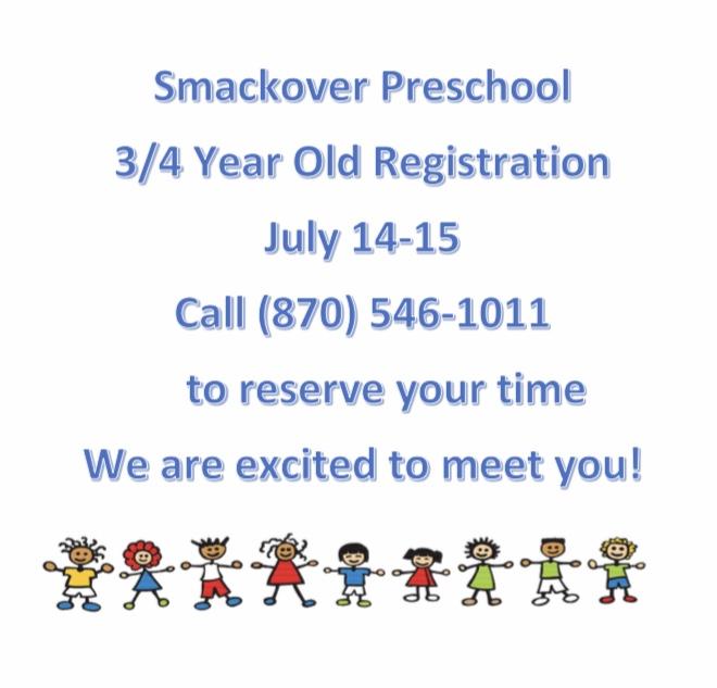 Smackover Pre-k Registration Poster